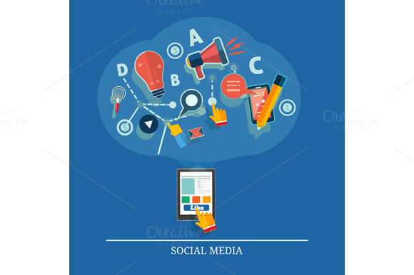 Cloud Of Application Icons Social