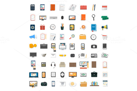 Set Of Various Financial Service