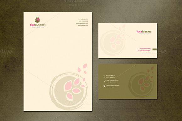 Spa Logo Stationery Design