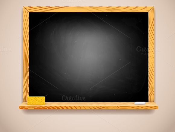 Vector Black Chalkboard