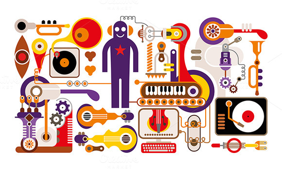 Abstract Music Illustration