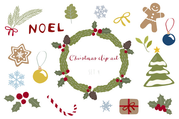Christmas Clip Art Set 4