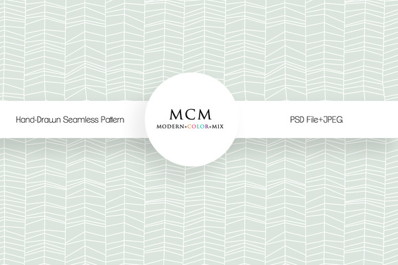 Hand Drawn Seamless Pattern PSD JPEG