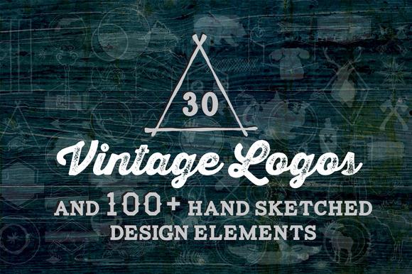 30 Vintage Logos Design Elements