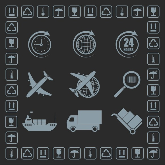 Set Of Delivery Theme Icons