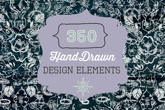 350 Hand Drawn Design Elements