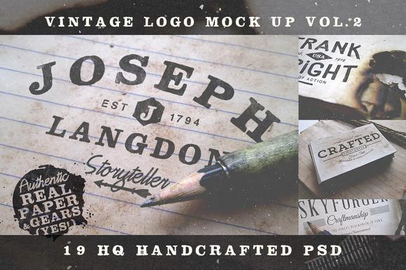 Vintage Logo Mock Up Set Volume 2