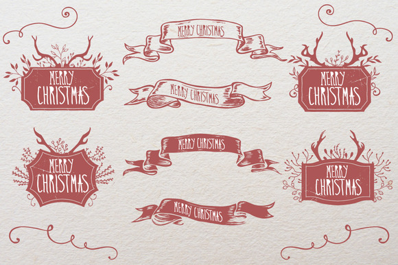 Christmas Ribbons And Frames