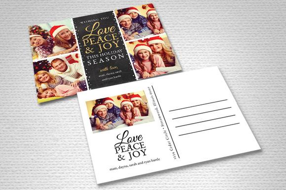 Christmas Card Template Love Joy