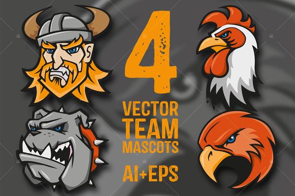 4 Vector Team Mascots
