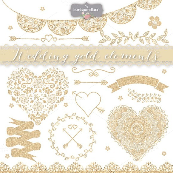 Wedding Gold Elemenets