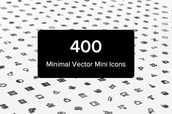400 Minimal Vector Mini Icons