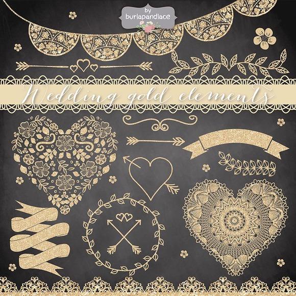 Wedding Gold Elements