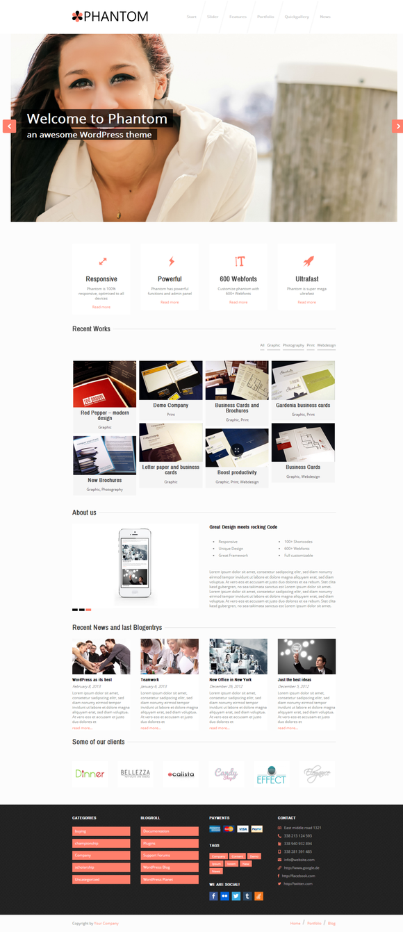 Phantom Responsive Business Theme