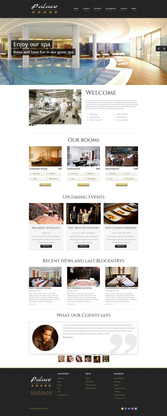 Palace WordPress Hotel Theme