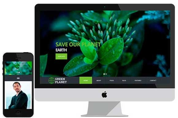 Green Planet Social Bootstrap HTML