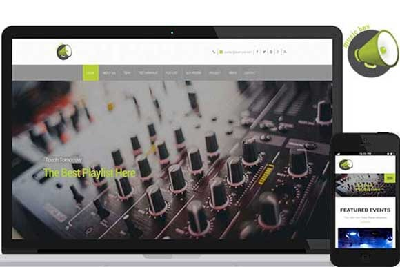 Music Box Full Responsive Theme