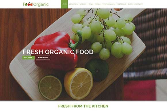 Food Organic For Healthy Food HTML