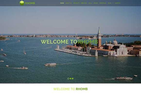 Rhomb One Page Responsive Template