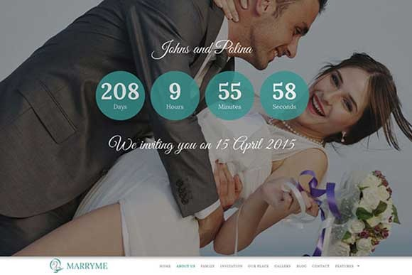 Marryme Responsive Wedding Theme