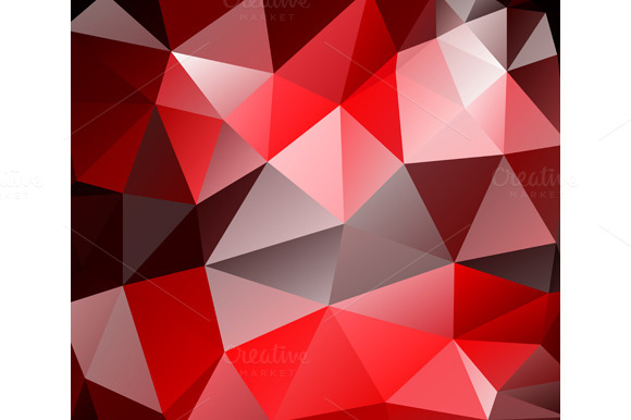 Triangle Background Red Polygons