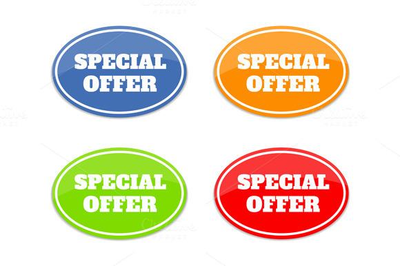 Set Of Multicolor Seals Stickers