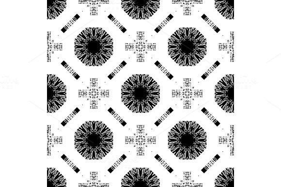 Set Seamless Pattern With White