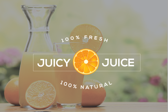 Juice Bar Style Logo Template