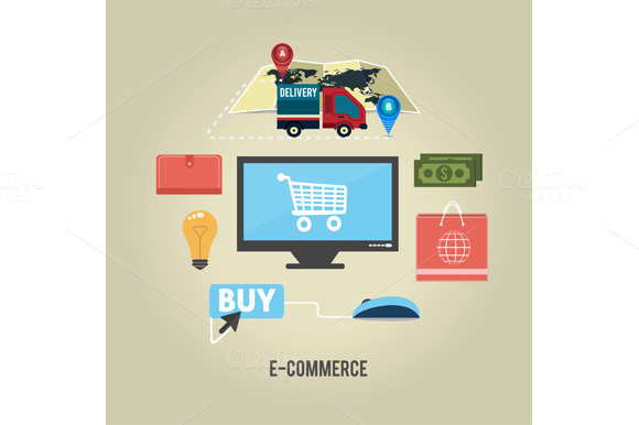 E-commerce Infographic Concept