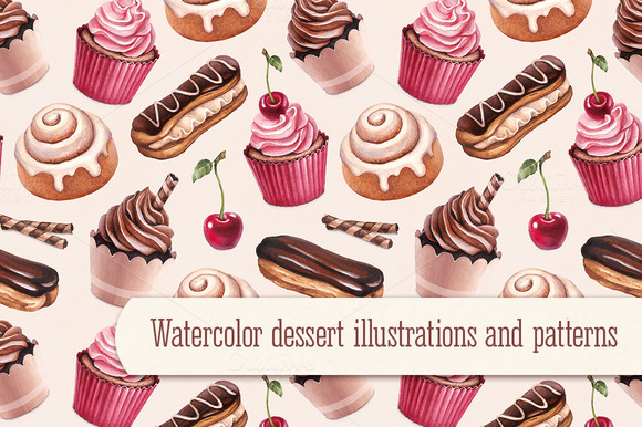 Dessert Illustrations And Patterns