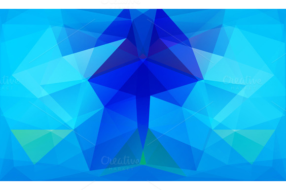 Triangle Background Blue Polygons
