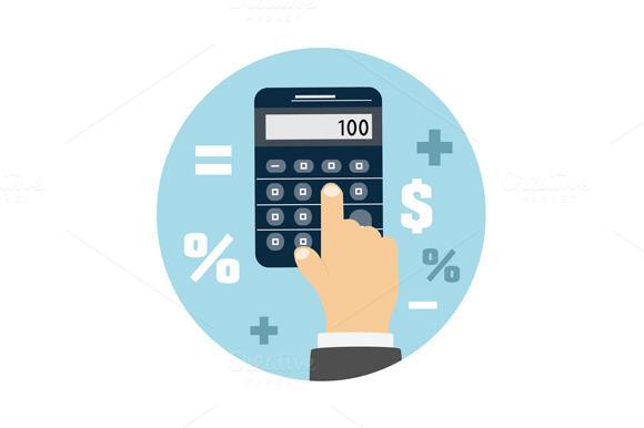 Calculator Icon Business Concept