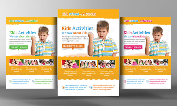 Kids School Education Flyer Template