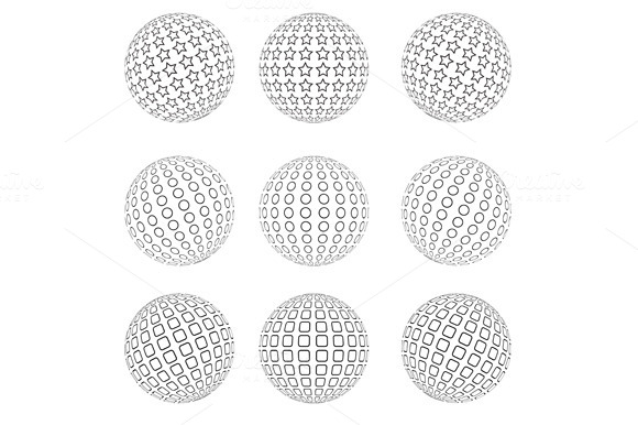 Abstract Dotted Sphere