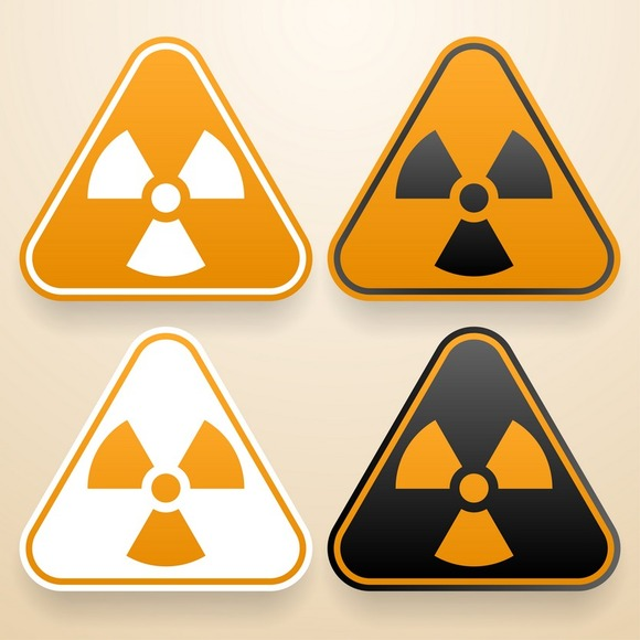 Set Of Triangular Radiation Signs