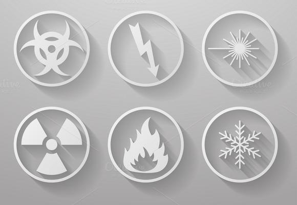 Set Of Warning Signs