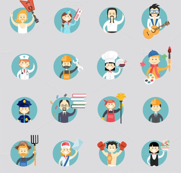 Avatars Of Different Professions