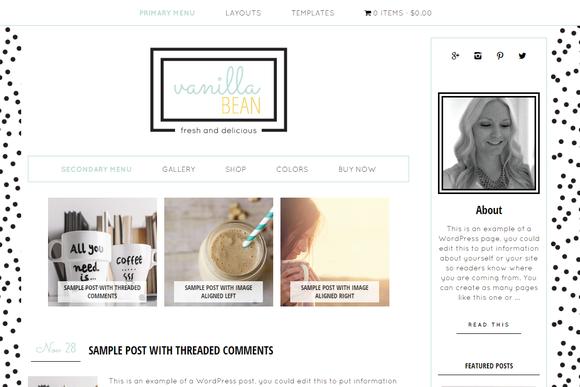 VanillaBean Wordpress Theme