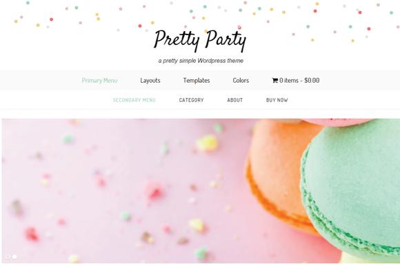 PrettyParty Wordpress Theme