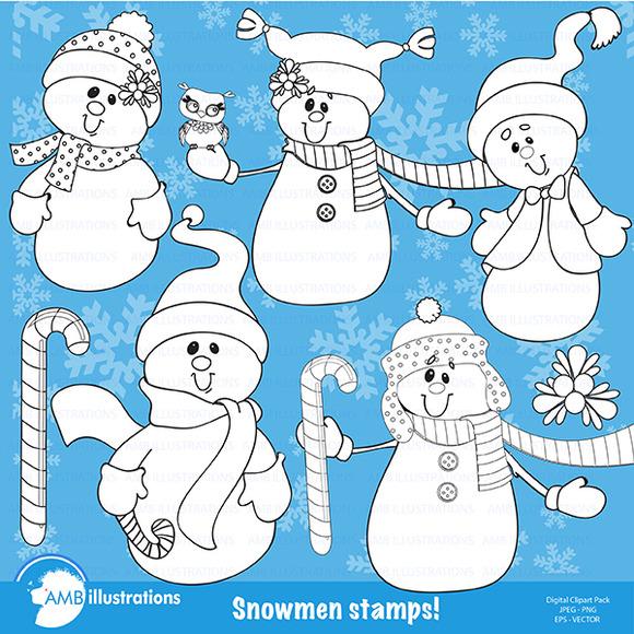Snowmen Stamps 190