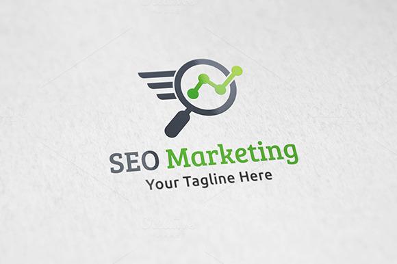 SEO Marketing Logo Template