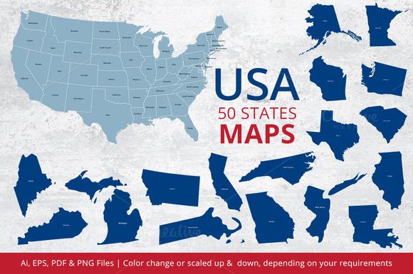 States Maps Of USA