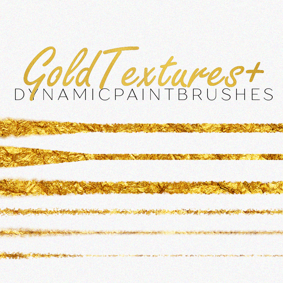 LUXE PS Brushes Gold Foil Textures