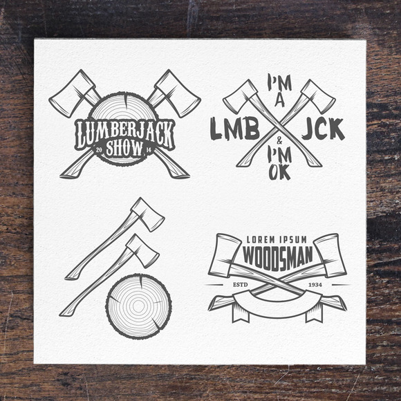 Lumberjack Labels And Badges
