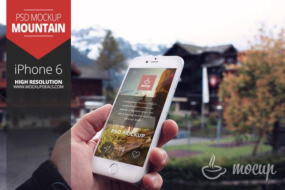 IPhone 6 Mockup Mountain