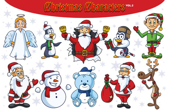 Christmas Vector Characters Vol.2