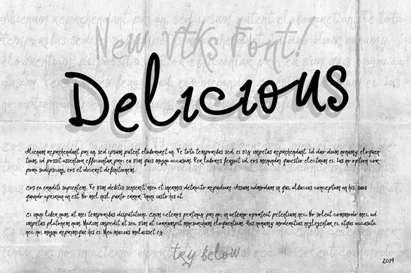 Delicious Font By VTKS