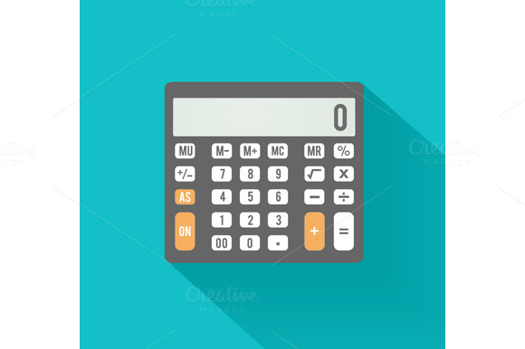 Calculator Icon Business Concept
