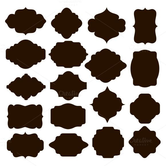 Black Silhouette Frames For Badges