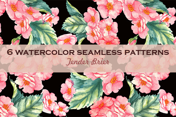 Watercolor Seamless Patterns